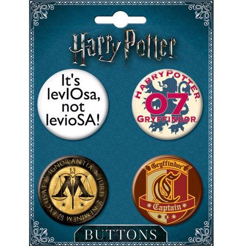 Harry Potter Buttons Set of Four - Set #6