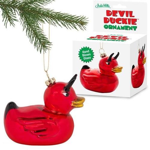 Devil Duckie Ornament