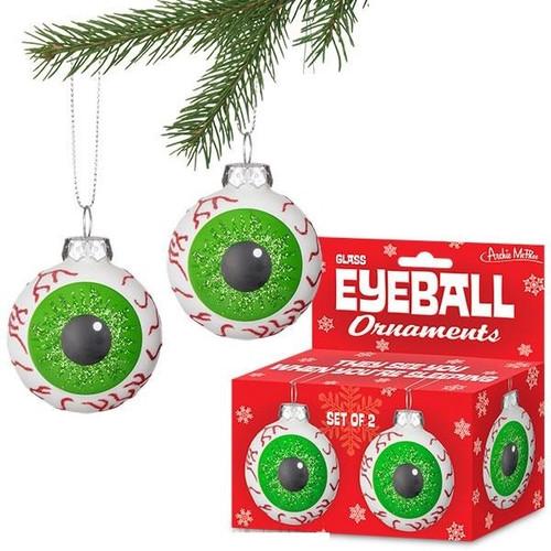 Set of 2 Glass Eyeball Ornaments