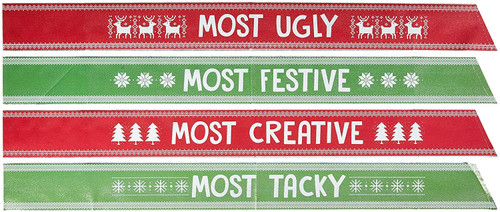 Ugly Sweater Foil Sashes