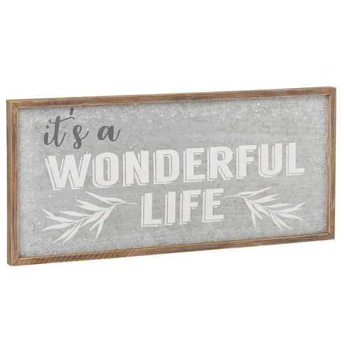 It's A Wonderful Life Galvanized Tin Sign