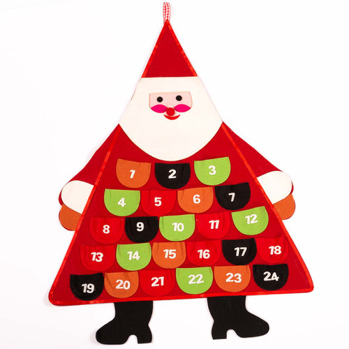Retro Santa Felt & Fabric Wall Advent Calendar