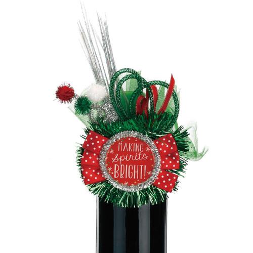 Christmas Bottle Corsage