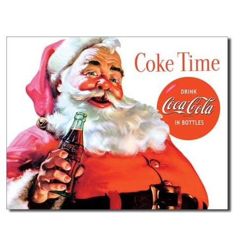 Coca Cola Santa Tin Sign