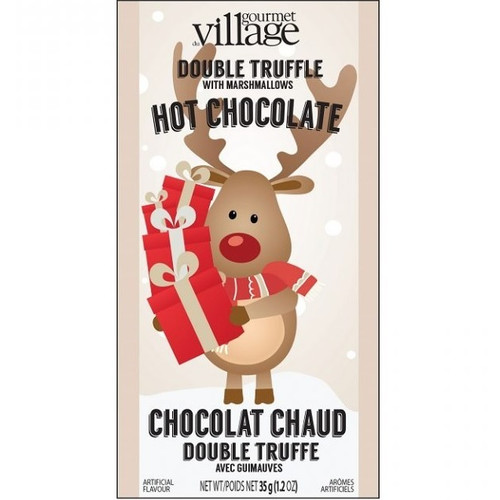 Retro Reindeer Double Truffle Hot Chocolate with Marshmallows Packet
