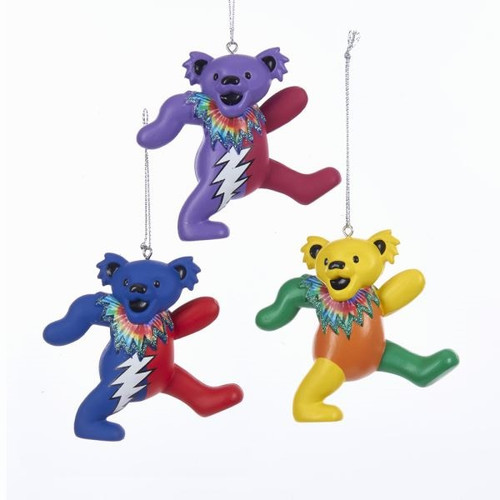 Grateful Dead Dancing Bears Ornaments