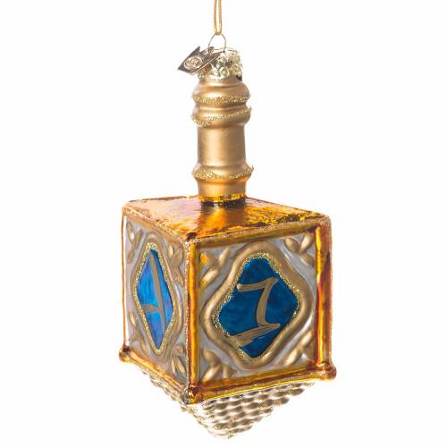 Glass Dreidel Ornament Hanukkah