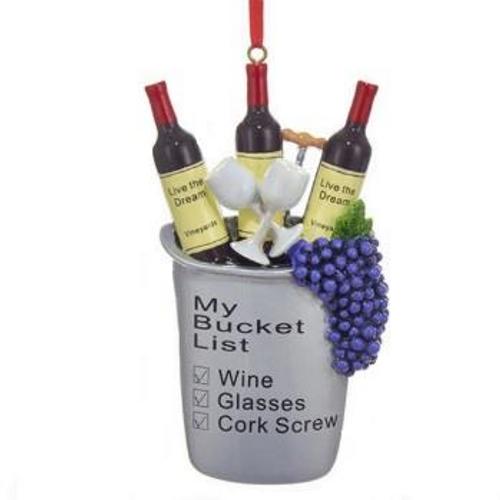 My Bucket List Wine Lover's Ornament