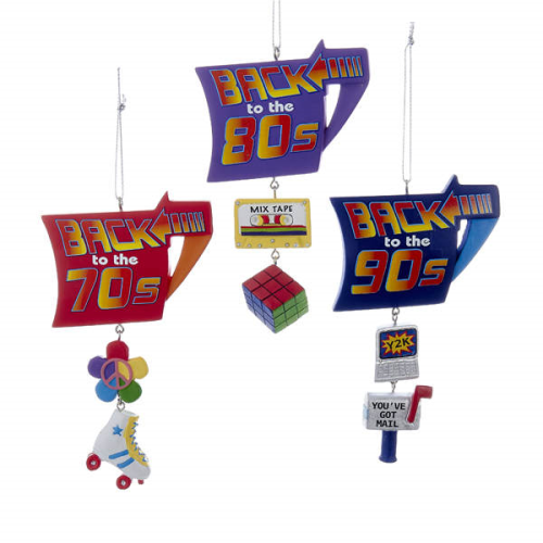 Back to the 70's, 80's, or 90's Ornaments