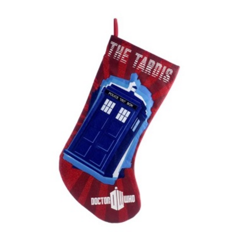 Doctor Who Tardis Red Applique Stocking