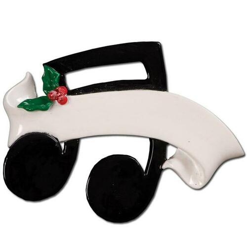Musical Note Personalized Ornament