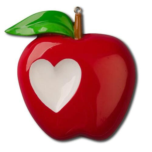 Teacher Apple Personalized Ornament
