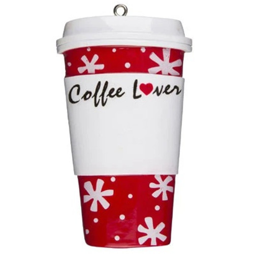 Coffee Lover Cup Personalized Ornament