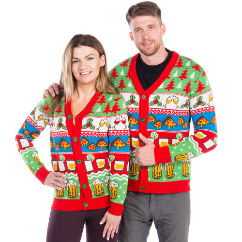 Christmas Ugly Sweater.The Nightcap Before Christmas Ugly Cardigan Sweater World S Best