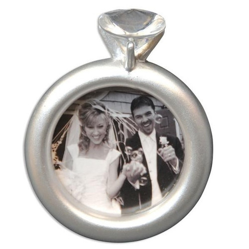 Engagement Ring Frame Personalized Ornament