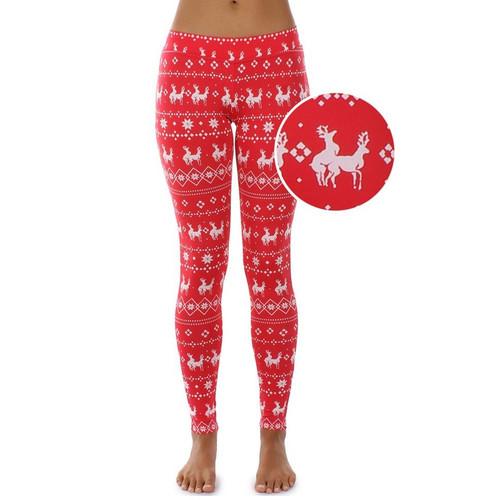 7e513e4ce0801d Women's Humping Reindeer in Red Leggings by Tipsy Elves