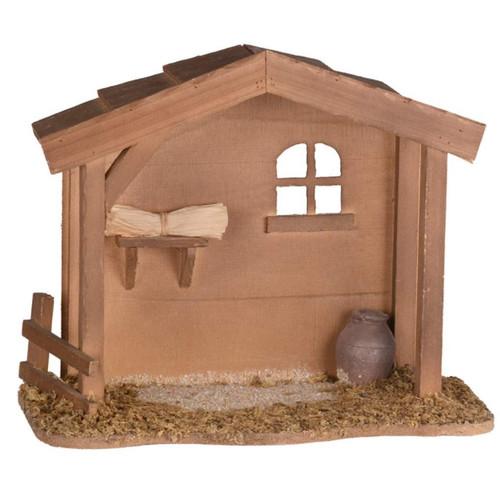 Wooden Nativity Stable Creche
