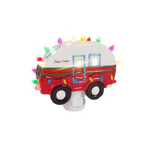 """5"""" Happy Camper Ceramic Nightlight"""