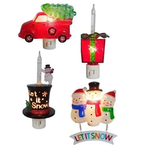 Festive Holiday Night Light 4 Assortment