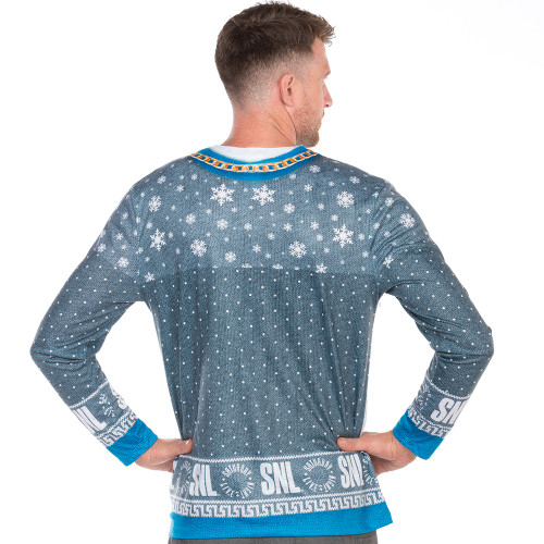 163faa135642 ... Dick in a Box Faux Real Ugly Christmas Long-Sleeve Tee Back View ...