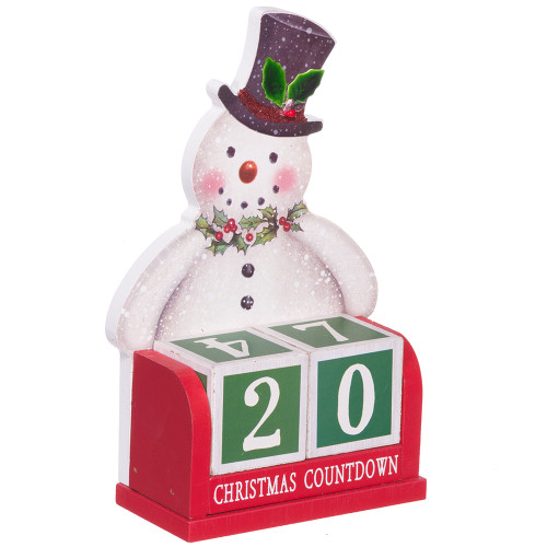 Countdown to Christmas Wood Table Topper - Frosty