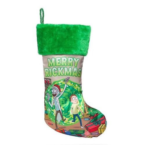 Rick and Morty Merry Rickmas Stocking