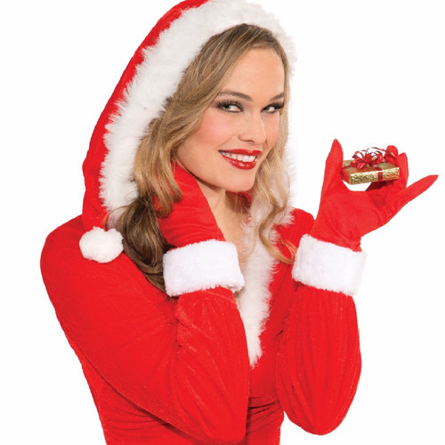 Mrs. Claus Christmas Fur Cuff Gloves