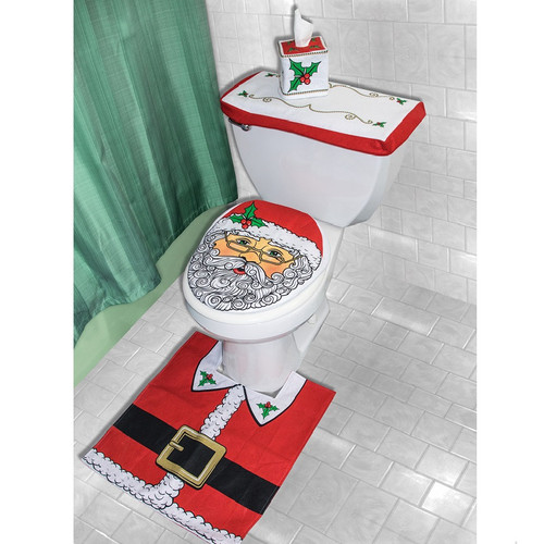 4-Piece Holiday Bathroom Decór Set