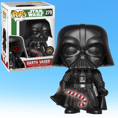 Holiday Darth Vader Pop! Funko Vinyl Figure Glow-In-The-Dark CHASE