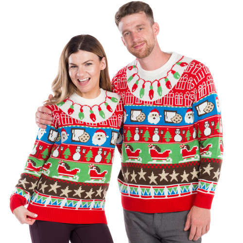 0350c842761 Got Milk and Cookies Ugly Christmas Sweater Couple - World s Best