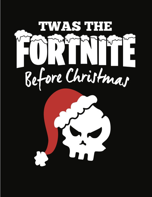 08c41ba9 Fortnite Before Christmas T-Shirt Black - Adult & Youth ...