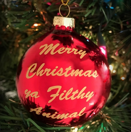 Merry Christmas Ya Filthy Animal Tree Ornament