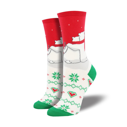 Red, White and You Women's Crew Socks by Socksmith Canada