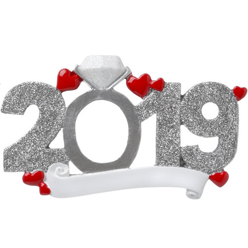 2019 Engagement Personalized Ornament