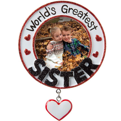 World's Greatest Sister Personalized Ornament
