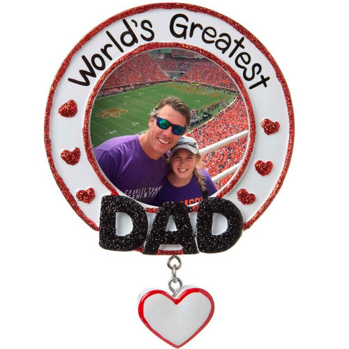 World's Greatest Dad Personalized Ornament