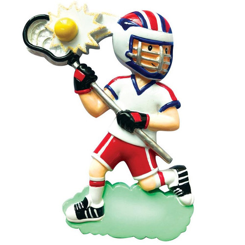 Lacrosse Player Personalized Ornament