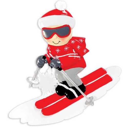 Snow Skier Personalized Ornament