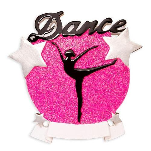 Dance Silhouette Personalized Ornament