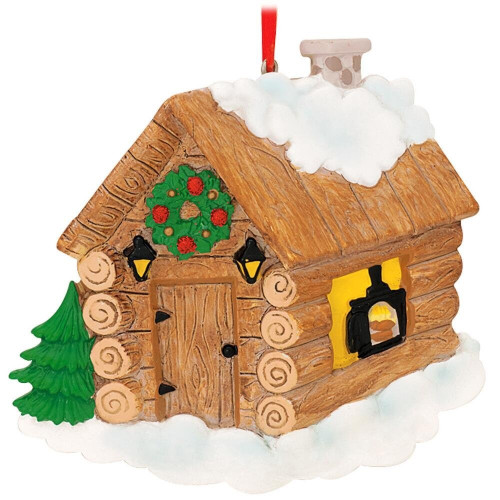 Log Cabin Personalized Ornament