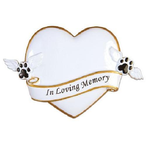 In Loving Memory Pet Memorial Personalized Ornament