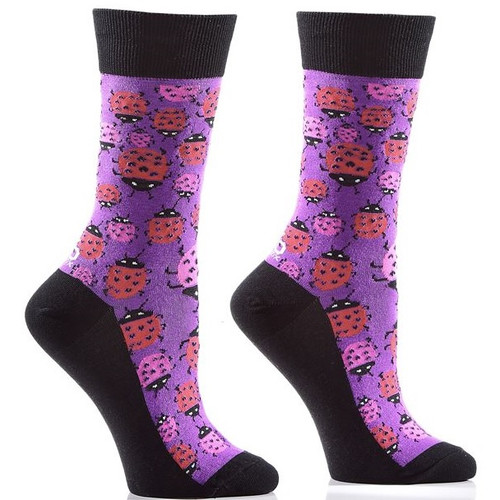 Ladybug Women's Crew Socks Full Sock View