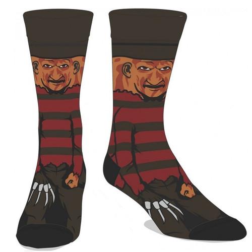 A Nightmare on Elm Street Freddy 360 Image Crew Socks