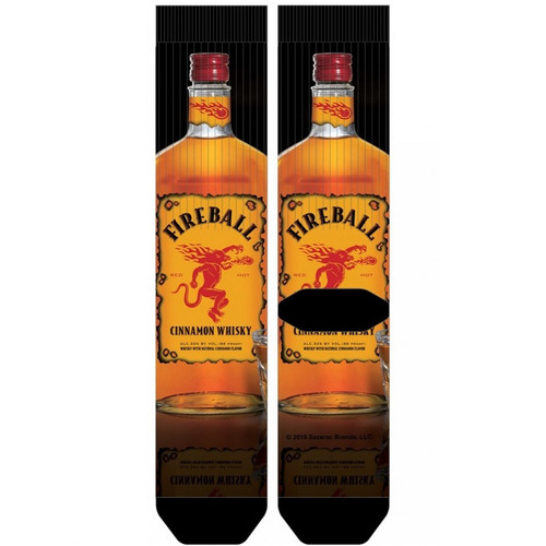 Fireball Whisky Bottle Crew Socks