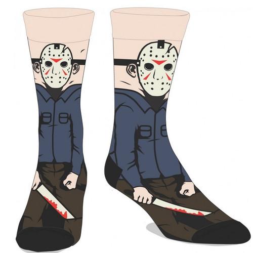 Friday The 13th Jason 360 Image Crew Socks