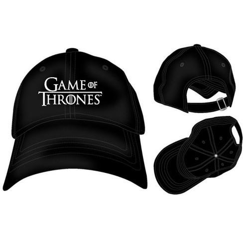 Game of Thrones Black Baseball Cap