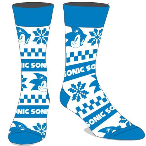 Sega Sonic the Hedgehog Christmas Sweater Crew Socks