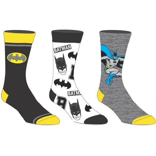 Batman Three Pair Crew Sock Pack