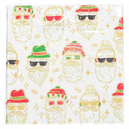 Hipster Santa Napkins