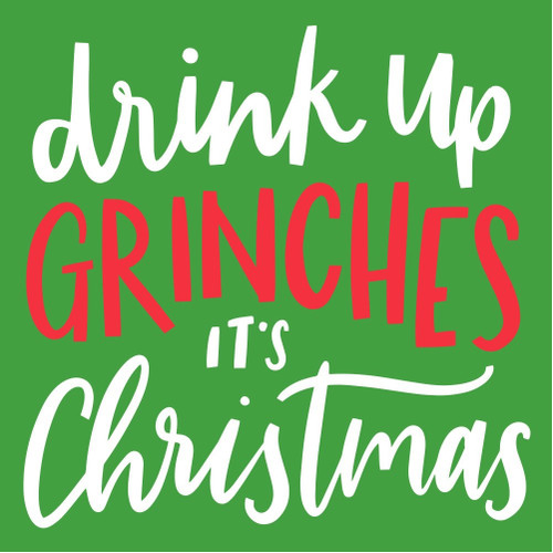 Drink Up Grinches Cocktail Napkins